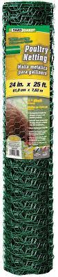 Amazon Com Yard Gard 308452b 24 X 25 1 Mesh Pvc Coated Green Poultry Netting Garden Outdoor