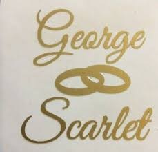 Wedding Bride Groom Personalised Vinyl Decals Stickers Glasses Free Uk P P Ebay