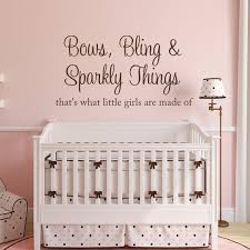 Bows Bling Sparkly Things Wall Decal Vinyl Lettering Girls Bedroom Wall Decal Girly Wall Decal Baby Wall Decals For Bedroom Bible Wall Decals Vinyl Wall Decals