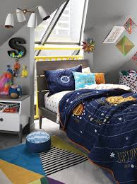Science Inspired Kids Bedrooms Crate Kids Blog Solar System Bedding Space Themed Bedroom Bedroom Themes