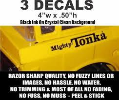 2 Tonka Self Adhesive Mighty Tonka Decals Black On Clear Mylar Nicer Decals Nicerdecals Corvette Road Runner Mopar Tonka Decals
