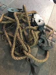 Vintage Durbin Block Tackle Wire Fence Stretcher Rope Cast Iron Durco Clamp Antique Tools Block And Tackle Antiques