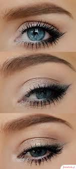 blue eyes pop with proper eye makeup