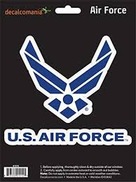 Amazon Com Officially Licensed U S Air Force Large 5 5 Us Military Sticker For Truck Or Car Windows Large Military Car Decals Military Collection Automotive
