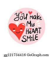 You Make My Heart Smile Clip Art Royalty Free Gograph