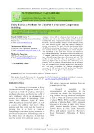 pdf fairy tale as a medium for children s character cooperation