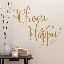 Choose Happy Wall Quotes Decal Wallquotes Com
