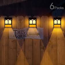 Solar Deck Lights Led Outdoor Garden Decorative Wall Mount Fence Post Lighting 6 Packs On Galleon Philippines