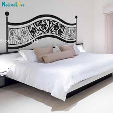 Vinyl Wall Sticker Floral Headboard Decals Home Decoration For Bedroom 3d New Design Self Adhesive Art Murals Gift Yy951 Wall Stickers Aliexpress