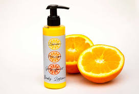 homemade citrus body lotion light
