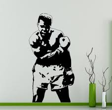 Free Shipping Muhammad Ali Wall Decal Boxer Vinyl Sticker Home Decor Ideas Interior Removable Wall Art Wall Stickers X001 Art Wall Sticker Wall Stickervinyl Stickers Aliexpress