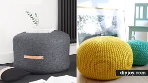 32 Diy Poufs To Make For Extra Seating