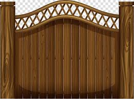 Brown Wooden Gate Gate Fence Wooden Fence Transparent Background Png Clipart Hiclipart