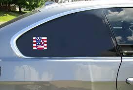 American Flag Peace Hands Square Sticker U S Custom Stickers
