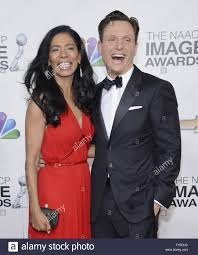 CEO of Smith & Company Judy Smith and actor/director Tony Goldwyn arrive  for the 44th