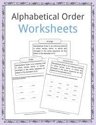 alphabetical order worksheets exles