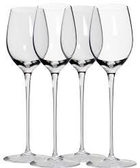 4 long stem wine glasses glassware
