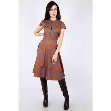 Voodoo Vixen Voodoo Vixen Flare dress Ada Brown | Attitude Europe