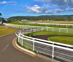 Racecourse Image Of A Country Australian Grass Race Track With Stock Photo Picture And Royalty Free Image Image 80244766