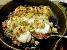 Pancetta Baked Scallops