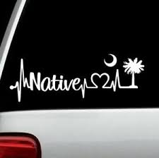 South Carolina Native Heartbeat Lifeline Decal Sticker Car Window 8 Inch Bg133 Ebay