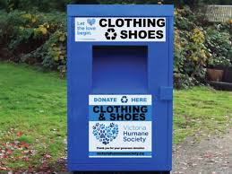 vhs clothing donation bins