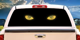 Amazon Com Signmission Cat Eyes Rear Window Graphic Truck View Thru Vinyl Decal Back Home Kitchen