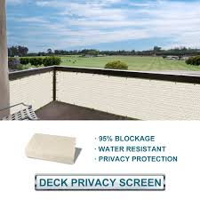 Buy Solgear Coarbor Privacy Fence Screen Mesh For Balcony Porch Verandah Deck Terrace Patio Backyard Railing 160gsm Up To 90 Blockage 3x5 Black In Cheap Price On Alibaba Com