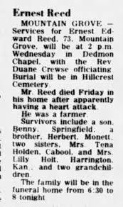 Ernest Edward Reed Obituary - Newspapers.com