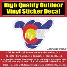 Shaka Hand Colorado Flag Vinyl Car Window Laptop Bumper Sticker Decal Colorado Sticker