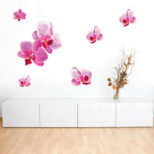 Pink Orchid Wall Decal Style And Apply