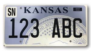 vehicle registration plates of kansas