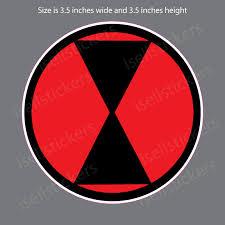 7th Infantry Division Black Widows Army Bumper Sticker Vinyl Window Decal