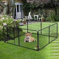 Bonnlo 24 Inch Dog Pet Exercise Fence Playpen With Door For Large And Small Dogs Indoor Outdoor 8 Panels Amazon In Pet Supplies