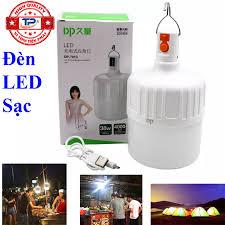 Bóng đèn LED sạc tích điện 38W DP-7813 với 3 chế độ sáng 6-11 tiếng, chống  nước, dùng khi mất điện, bán hàng, công việc hoặc cắm trại ngoài trời... DP