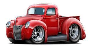 1940 Ford Truck Wall Decal Vintage Classic Cartoon Car Vinyl Etsy