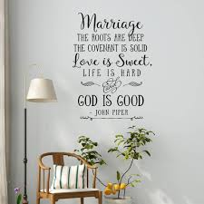 Christian Vinyl Wall Sticker Marriage Quote Marriage The Roots Are Deep Love Is Sweet Wall Decal Bible Verse Wall Decor G428 Wall Stickers Aliexpress