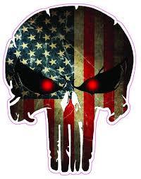 American Flag Punisher Decal Nostalgia Decals Die Cut Vinyl Stickers Nostalgia Decals Online