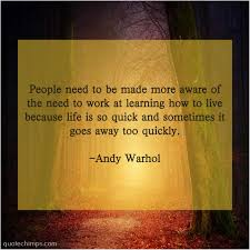 andy warhol people need to be made quote chimps
