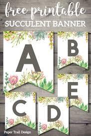 succulent free printable alphabet