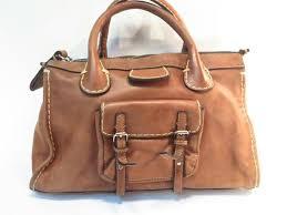 chloe edith handbag light brown leather