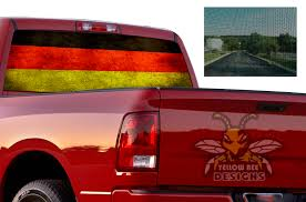 Germany Dodge Ram Perforated Decals Sun Protection Decals