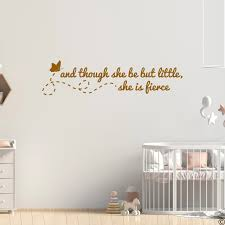 Though She Be But Little Shakespeare Wall Decal Quote