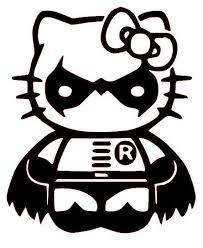 Hello Kitty Robin Car Window Vinyl Decal Bumper Sticker Batman Dark Knight For Sale Online Ebay