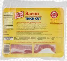 bacon meat oscar mayer fat