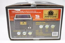 New American Farmworks Solar Powered Electric Fence Controller 15 Miles 30 Acre Solar Wind Power