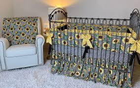 sunflower crib set beautiful sunflower