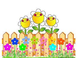 Fence Flower Flower Picture Frames Cartoon Flowers Clip Art