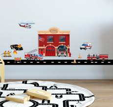 Fire Station W Truck Wall Decals