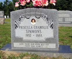 Priscilla Sue Ellison Simmons (Chamblee) (1952 - 1988) - Genealogy